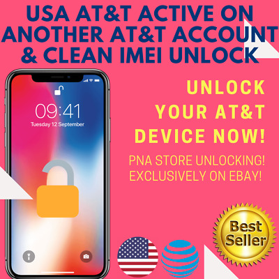 FACTORY UNLOCK SERVICE USA AT&T iPhone CLEAN and ACTIVE on ANOTHER AT&T ACCOUNT