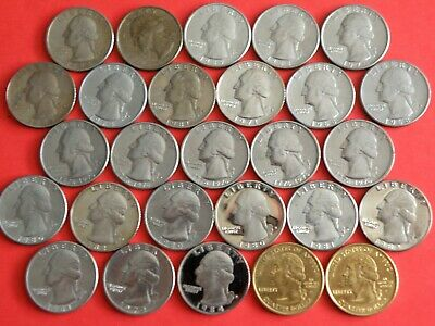 U.S.A. - 27x QUARTER DOLLAR COINS including PROOF ISSUES - 1968 to 2003  (OS01)