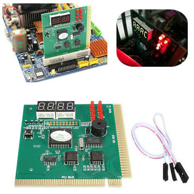 4-Digit Card PC Analyzer Diagnostic Motherboard POST Tester Computer PC PCI Au