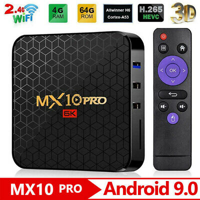 MX10 Pro Android 9.0 6K Quad Core TV Box 4G 32 64G Media Player WiFi Set Top Box