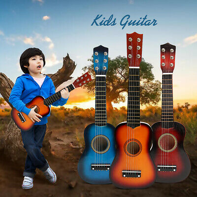 21'' Inch Beginners Kids 6 Strings Acoustic Guitar Musical Instrument Gift