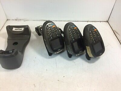 Lot of 3x Zebra MT2070 Handheld Scanners w/ Charging Dock