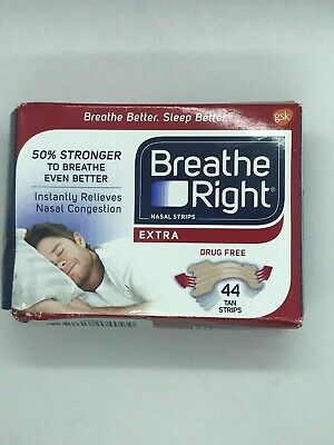 Breathe Right Extra Strong Nasal Strips One Size Fits All, Tan 43 Count