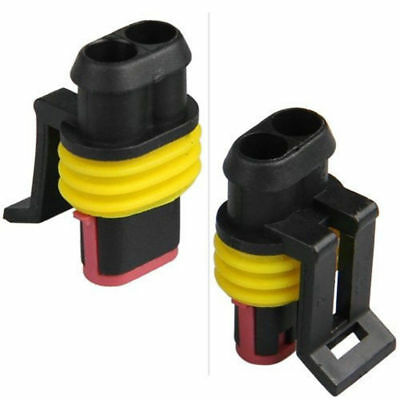 10Kits Car 2Pin Way Sealed Waterproof Electrical Wire Auto Connector Plug Set US