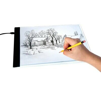 A4 LED Art Craft Copy Drawing Tracing Board USB Calligraphy Light Box Pad Board