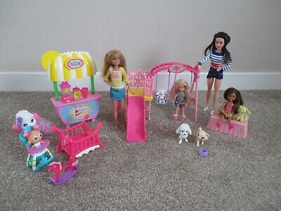 Barbie Chelsea playground dolls and others bundle