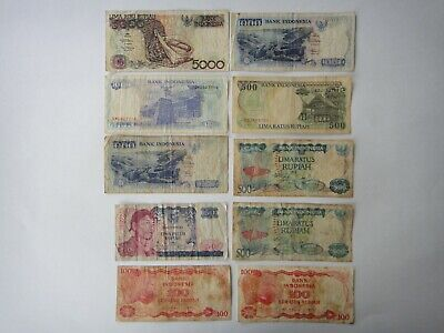 World Banknotes - Bulk Lot of 10 World mix Banknotes  Indonesia
