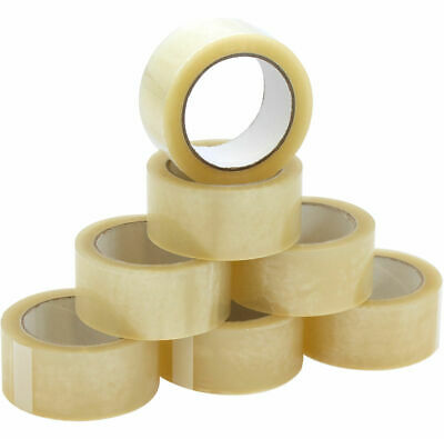 VERY STRONG PACKING TAPE - BROWN / CLEAR / FRAGILE 50mm x 66M Rolls PARCEL TAPE