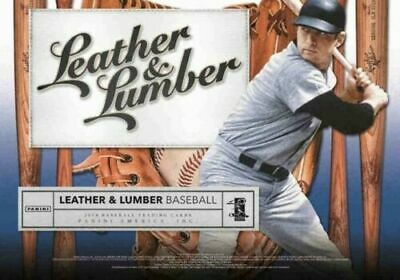 2019 Panini Leather and Lumber Baseball Factory Sealed Blaster Box