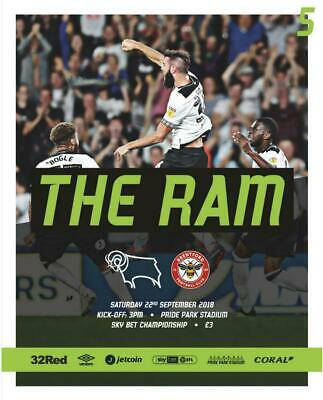 * 2018/19 - Derby County Home Programmes - Choose From List *