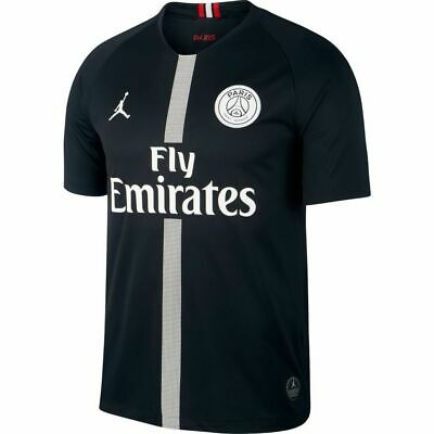 8452ec964 NIKE Jordan x Paris Saint-Germain Stadium Jersey 919010-012 Black (MEN'S 2XL