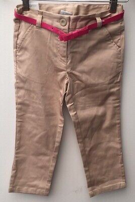Girls Beige Trousers Age 7 Next RRP £14 BNWT <NZ1382