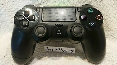 SONY Playstation Dualshock PS4 Black Controller slightly faulty (08) Bluetooth
