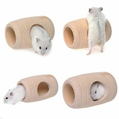 Funny Small Animal Wooden Bed House Cage Molar Pet Rat Hamster Mouse Wood Toys