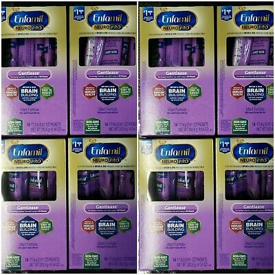 Enfamil NEURO PRO Gentlease (8) 14-Packet Cartons Single-Serve Packets Exp 2/20