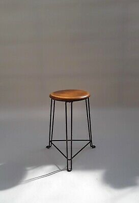 Early Modernist Tomado Wood/Metal Stool 30-50,s prouve le corbusier rietveld era