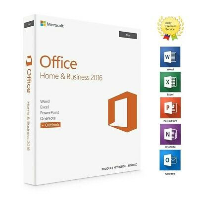 * Genuine Microsoft Office Home and Business 2016 For Mac *
