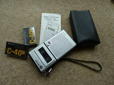 Decimo Pocket Secretary SD-311 Dictaphone cassettes cover and instructions