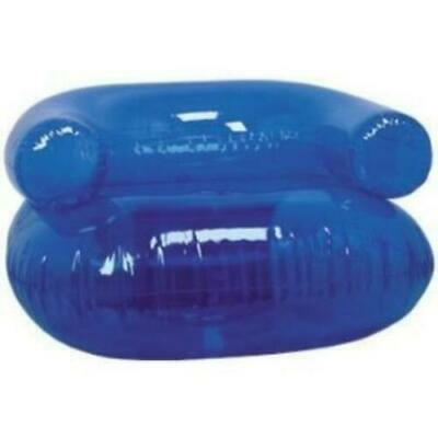 Inflatable Blow Up Chair Clear Blue