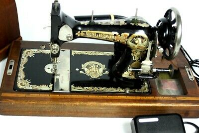 19c Antique Frister & Rossmann Motorized Sewing Machine | PRISTINE !!! [5336]