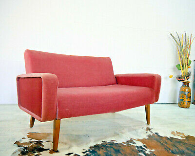 50er Midcentury Cocktail Sofa Retro Couch Vintage Hygge Rockabilly Lounge 60er