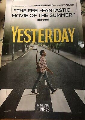 YESTERDAY (2019) Authentic Advanced 27x40 D/S Movie Poster.