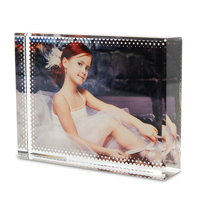 Personalised Photo 3D Effect Crystal Glass Block