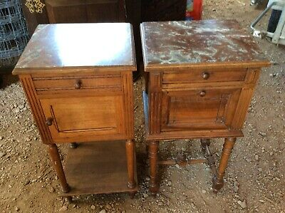 Pair Of French Louis Style Bedside Cabinets Cupboards
