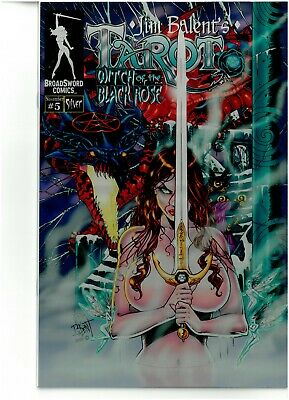 Tarot Witch of the Black Rose 5 REISSUED SILVER METAL Jim Balent NM 1/5 COA