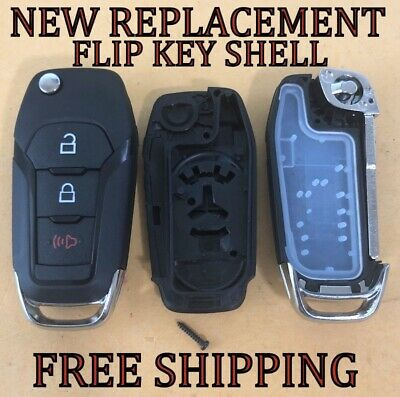For Ford 2015-2019 F-150 Replacement Flip Key Remote Fob Case Shell Pad Blade