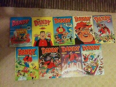 "Vintage Dandy Annuals , 80""s,90's and 2000'sJob lot 9"