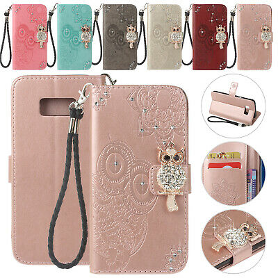 For Samsung A50 Case A30 A70 A40 A10 S10e S10+ Bling Magnet Wallet Leather Cover