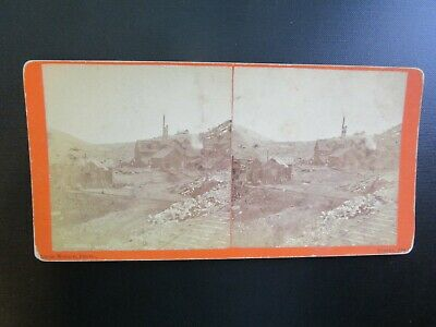 "EUREKA, NV. - Early Stereoview - ""Richmond Mine"" - 1870's"