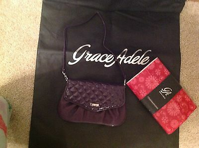 Brand New Grace Adele Elegant Jane Purple Clutch & Phone Holder with tags on