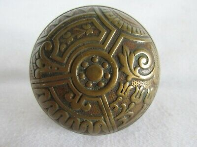Antique Brass Aesthetic Movement Style Door Knob, Single, Old House Salvage