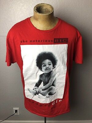 The Notorious BIG Ready To Die Baby Photo Size XL Brooklyn Mint Red