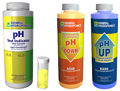 General Hydroponics pH Control Kit GH up down combo Test Indicator grown plants