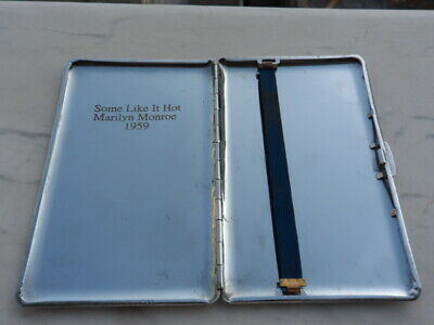 Marilyn Monroe American actress some like it hot Cigarette Case Movie Rare 1959s