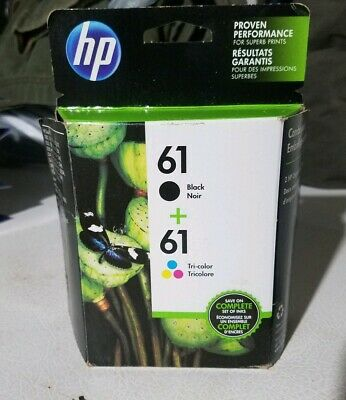 HP 61 Combo 2pack Ink Cartridges Black and Color Factory Box