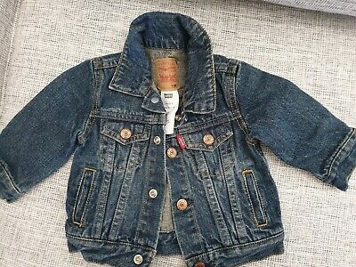 Levis Boys Denin Jeans And Jacket. Size 12 Months