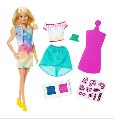 *Barbie Crayola Color Stamp Fashion Doll Wash & Repeat Design, 15+ Pieces!