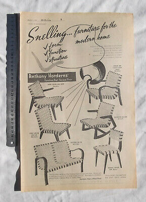 Snelling Chairs Large Full Page Advertisement from a 1948 Newspaper Chair
