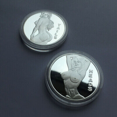 Heads Tails GET Me Adult Sexy Game Hot Girl Novelty Coin Collectible Man Gift US