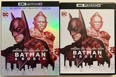 Dc Batman & Robin 4K Ultra Hd Blu Ray 2 Disc Set + Slipcover Sleeve Free Shippin