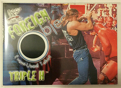 Triple H 2001 Fleer WWF / WWE Foreign Objects Event-Worn T-Shirt Relic Card SP