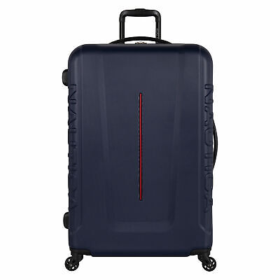 Nautica Mens Vernon Bay Hardside Spinner Luggage In Navy/Red