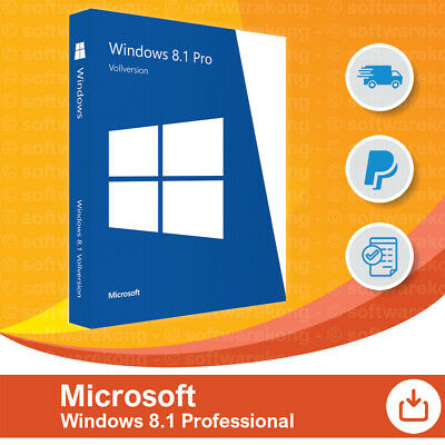 Microsoft Windows 8.1 Professional, Original, OEM, 32/64-Bit.