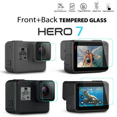 Explosion-proof Lens & Screen Protector Tempered Glass Film For Gopro Hero 7 6 5