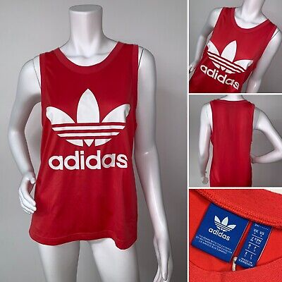 e12961cffd VINTAGE ADIDAS 80'S Tank Top Mens t-shirt Size Large Trefoil Made in ...