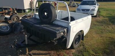 Box Trailer 5 x 5 high sides with large lockable two door tool box  7 mths rego